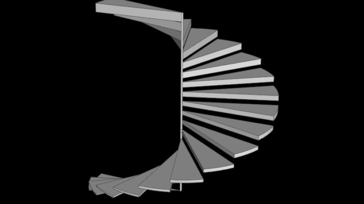 grasshopperを使った螺旋階段のモデリング